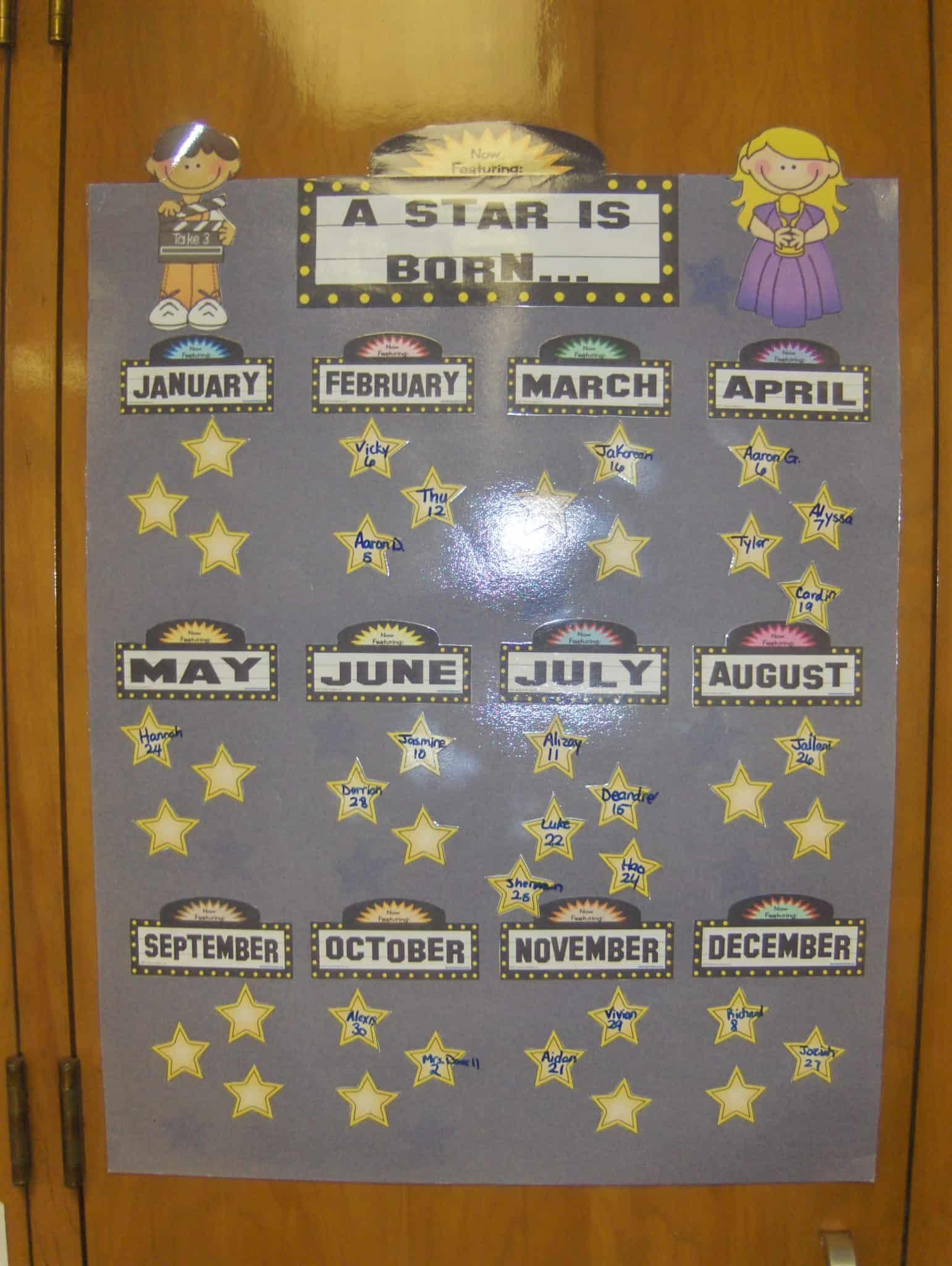 Classroom Decor Stars ~ Hollywood themed classroom love teaching kids