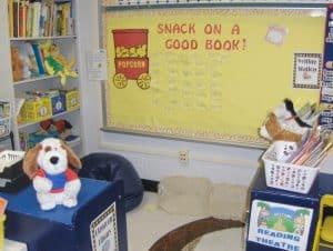 Hollywood themed classroom library