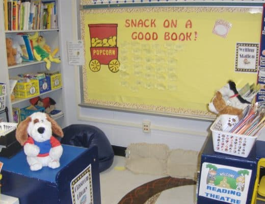 Hollywood themed classroom library
