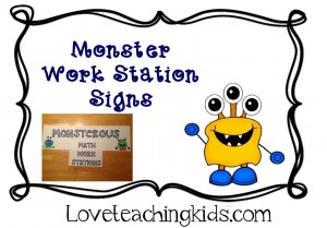Love Teaching Kids Monster Theme