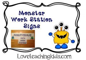 Love Teaching Kids Monster Theme