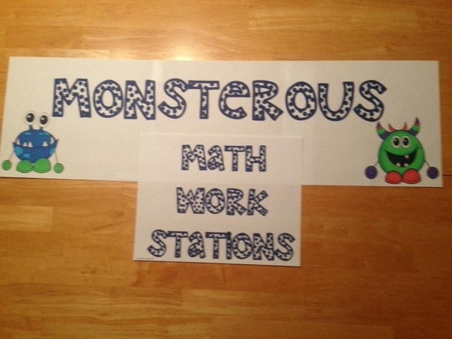 Monster Work Station Signs