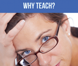 frustrated woman asking why teach