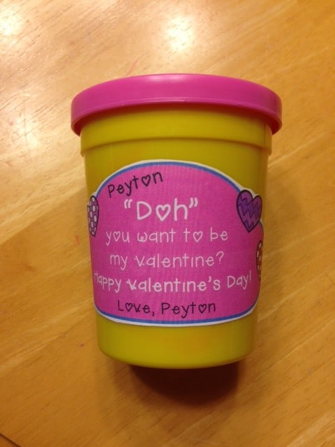 image about Play Dough Valentine Printable known as Monday Manufactured It- Enjoy Doh Valentine Printable - Take pleasure in Education