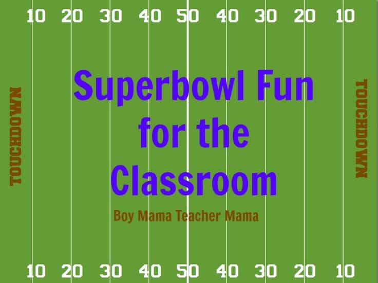 superbowl fun in the classroom