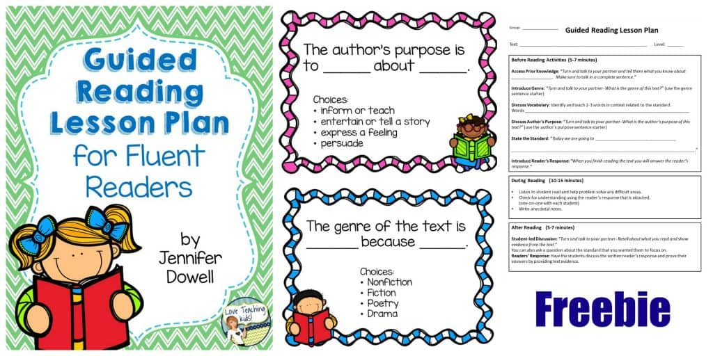 This Guided Reading lesson plan is for fluent readers (levels O-Z).The lesson will tell what to do with your reading group before reading, during reading, and after reading. There is a editable lesson plan template with step by step directions what to do for your fluent readers.