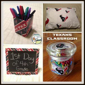 texans decor for the classroom