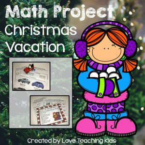 Click here to shop for Math Project- Christmas Vacation.