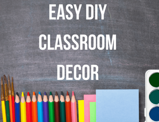 Easy DIY Classroom Decor