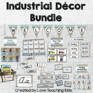 industrial classroom decor items