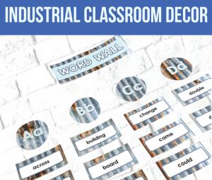 industrial classrom decor