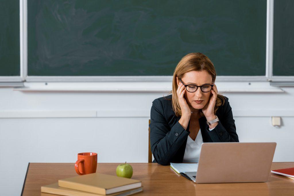 struggling teacher