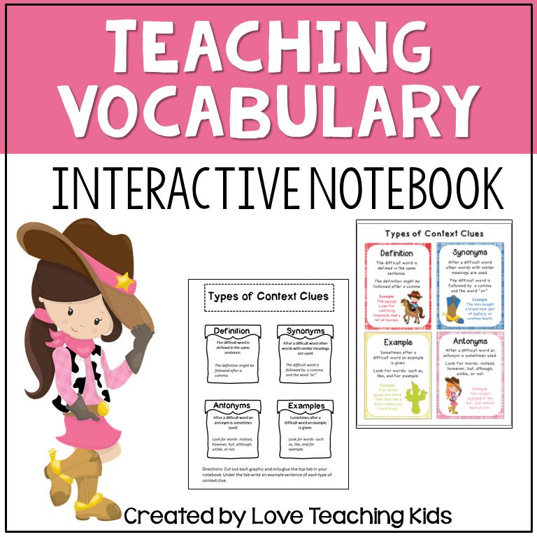 strategies for teaching vocabulary freebie